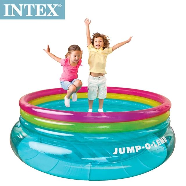 【私心大推】MOMO購物網【INTEX】兒童圓形三色透明跳跳床/球池(寬203cm)心得momo台 旅遊