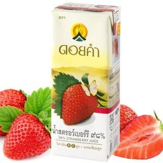 【皇家農場】鮮果汁-草莓汁(200mlx4入/組)
