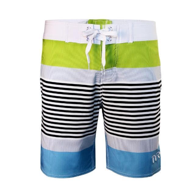 【好物分享】MOMO購物網【美國TYR】男款彈性海灘褲Zag Stripe Boardshort VIridian Green(台灣總代理)好用嗎富邦