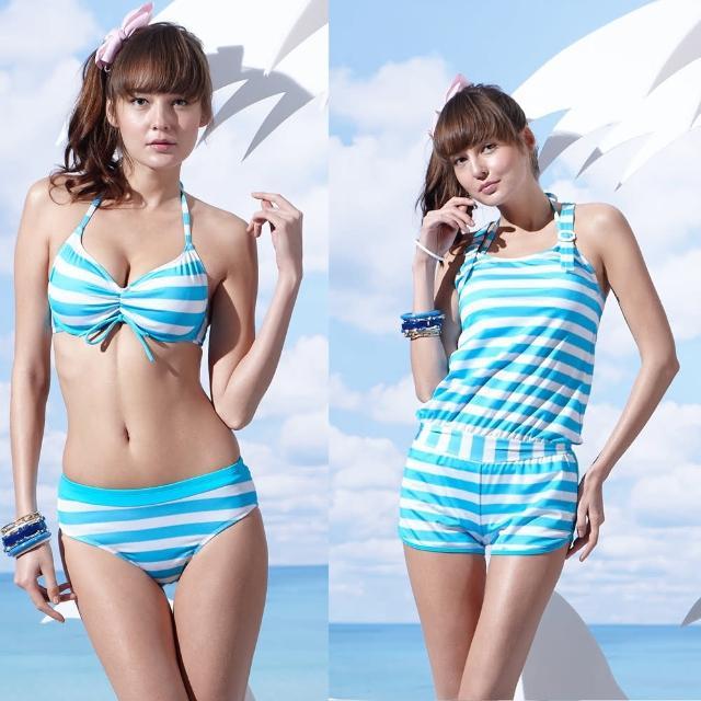 【真心勸敗】MOMO購物網【SAIN SOU】戲水/沙灘/踏浪大女比基尼三件式泳裝(附泳帽A93607)評價momo購物手機