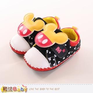 【魔法Baby】12.5-15cm寶寶鞋 迪士尼米奇正版真皮中底專櫃款(sh9885)