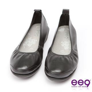【ee9】ee9 芯滿益足-通勤私藏經典率性軟牛皮素面百搭跟鞋*黑色(跟鞋)