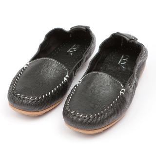 【ee9】ee9 MIT經典手工-率性風采超柔軟休閒豆豆休閒包鞋*黑色(豆豆休閒包鞋)