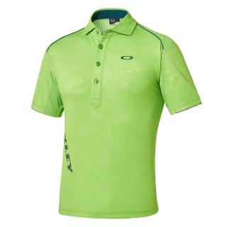 【OAKLEY】BARK LEAF SHADE WISPY LINE SHIRT(短袖時尚高爾夫POLO衫)