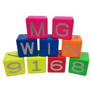 【Macro Giant】MIT PU運動商品系列 MG益智方塊組 8cm(字母型-6入)