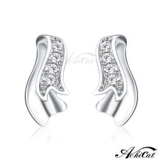 【AchiCat】925純銀耳環 優雅緞帶 純銀耳針 GS6017