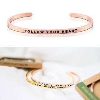 【MANTRABAND】美國悄悄話手環 Follow Your Heart 隨心所欲 玫瑰金(悄悄話手環)