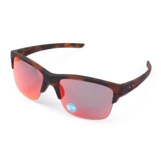 【OAKLEY】THINLINK 偏光運動休閒太陽眼鏡 - 附鏡袋無鼻墊(咖啡紅)