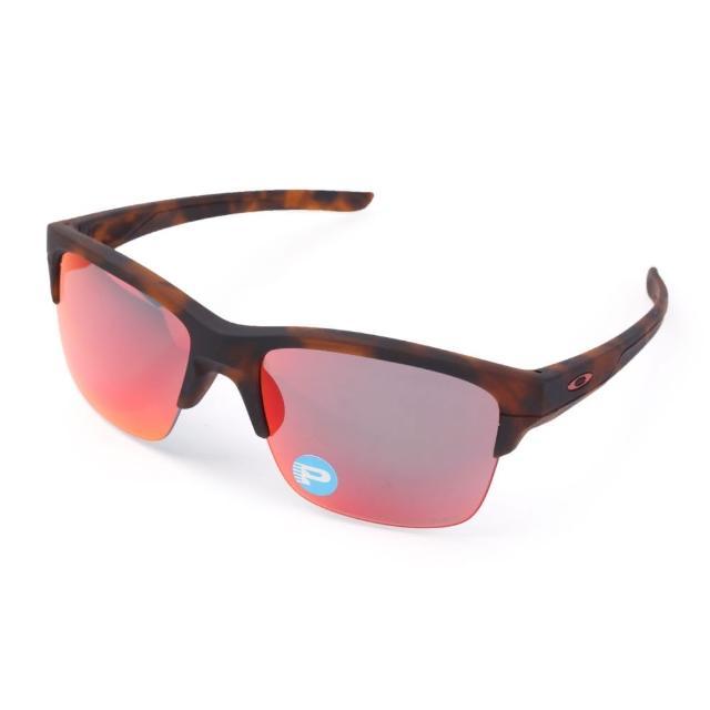 【真心勸敗】MOMO購物網【OAKLEY】THINLINK 偏光運動休閒太陽眼鏡 - 附鏡袋無鼻墊(咖啡紅)效果好嗎富邦momo客服