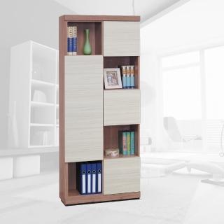 【樂和居】羅德柚木雪衫白雙色書櫃