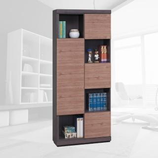 【樂和居】羅德柚木雙色書櫃