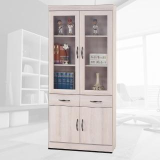 【樂和居】海蘭白栓木2.6尺中抽書櫃