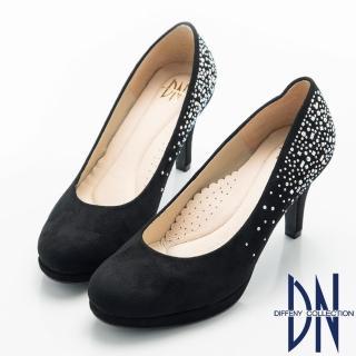 【DN】經典優雅 耀眼水鑽點綴晚宴高跟鞋(黑)