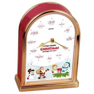 【DeeDa鐘情坊CL-TCXM-GFT-R】紅色座鐘-可愛活潑的雪(紅色座鐘)