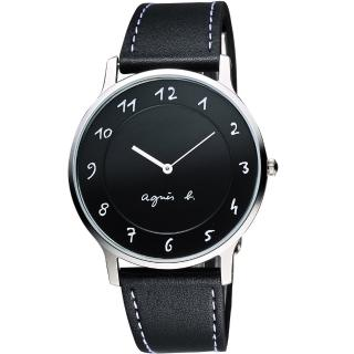 【agnes b.】法國時尚藝術腕錶-黑/39mm(VJ20-K240ZBJ5005X1)