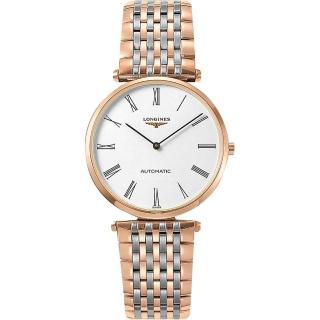 【LONGINES】浪琴 La Grande 嘉嵐系列機械錶-白x雙色版/36mm(L49081917)