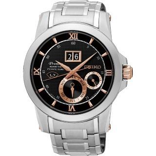 【SEIKO】精工 Kinetic 萬年曆大視窗腕錶-41mm(7D48-0AR0DSNP136J1)