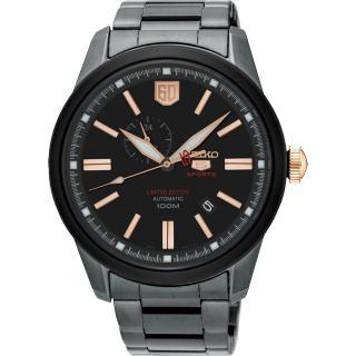 【SEIKO】精工 5號盾牌60週年限定版機械錶-黑/44mm(4R37-01G0KSSA317J1)