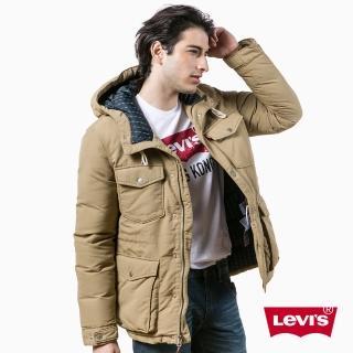 【Levis】SUTRO 保暖長袖連帽抽繩外套 / 卡其色
