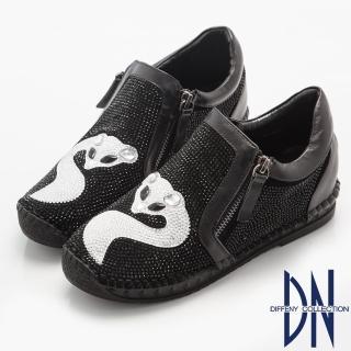 【DN】歐美魅力MIT耀眼狐魅寶石鑽飾休閒鞋(黑)