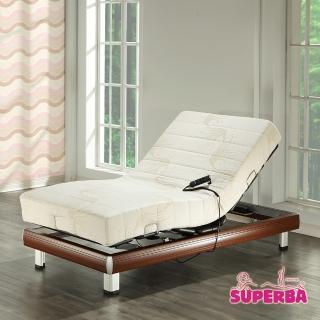 【瑞士Superba】Titlis線控電動床(涼感親膚記憶膠/櫻桃木色)-單人3.5尺