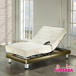 【瑞士Superba】Titlis線控電動床(涼感親膚記憶膠/鐵杉木色)-單人3.5尺