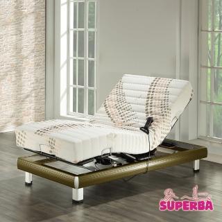 【瑞士Superba】Titlis線控電動床(透氣環保膠/鐵杉木色)-單人3.5尺