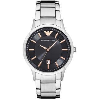 【Emporio Armani】亞曼尼 紳士簡約腕錶-灰x銀/42mm(AR2514)