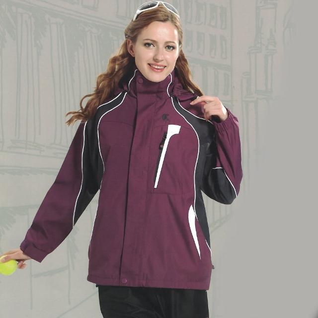 【勸敗】MOMO購物網【日本Kawasaki】女版休閒功能性二件式網裡外套(深紫)好用嗎momo購 物