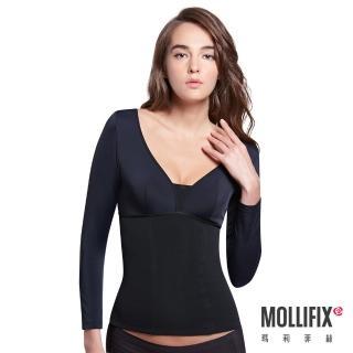 【Mollifix瑪莉菲絲】極暖抗寒BABY絨塑身衣(黑)