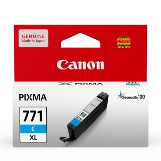 【CANON】CLI-771XL-C 原廠藍色高容量墨水匣(速達)