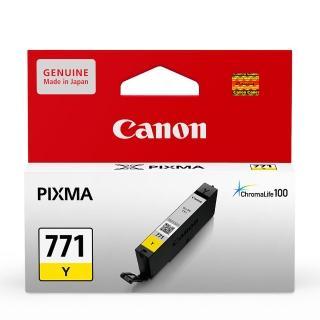 【CANON】CLI-771Y 原廠黃色墨水匣(速達)