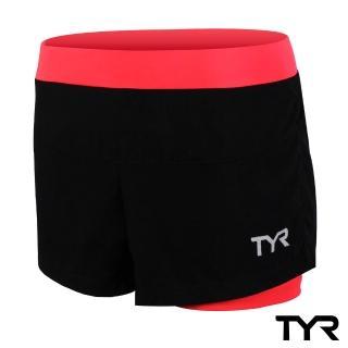 【美國TYR】女款透氣排汗短褲 Ladies Running Short Peach(台灣總代理)