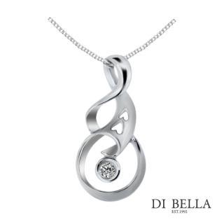 【DI BELLA】愛情時刻天然鑽石墜鍊(3分)
