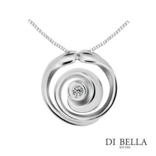 【DI BELLA】愛情漩渦天然鑽石墜鍊(3分)