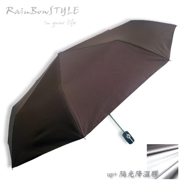 【勸敗】MOMO購物網【RainBow】經典款_PLUS升級版 - 抗UV自動晴雨傘(咖啡)價格momo購物 宅配