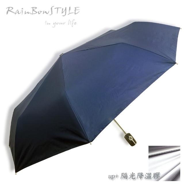 【好物推薦】MOMO購物網【RainBow】經典款_PLUS升級版 - 抗UV自動晴雨傘(藏青)價錢momo台電話