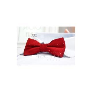 【拉福】兒童領結糾糾點點小紳士專用領結(大紅銀絲點點)