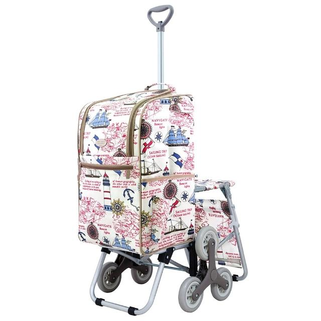 【好物分享】MOMO購物網【卡蘿】輕便時尚購物車-28L三輪有椅-海洋之星(保鮮/附座椅/上下樓梯)評價好嗎momo服飾