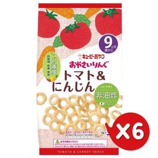 【日本KEWPIE】S-5寶寶果子圈圈-番茄胡蘿蔔(12gX6)