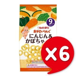 【日本KEWPIE】S-6寶寶果子圈圈-南瓜胡蘿蔔(12gX6)