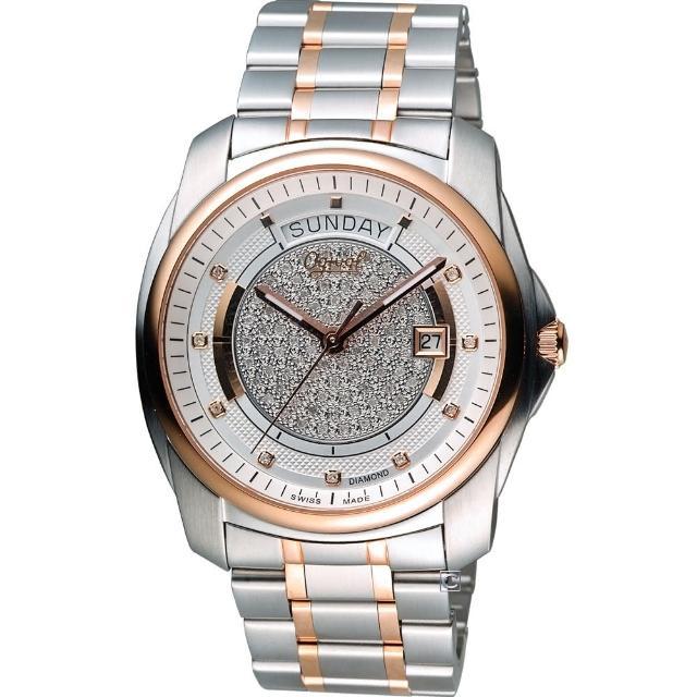 【愛其華 Ogival】豪流行 項鍊氣鑽石自動機械腕錶(3362-6AJGSR)