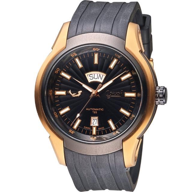 【愛其華 Ogival】賽車運動機械腕錶(826ATGRB 黑44mm)雷明時 開箱
