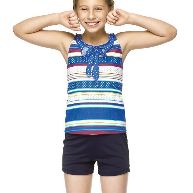 【勸敗】MOMO購物網【聖手牌】兩件式橫紋二截式少女泳裝(A82419)效果如何momo 500