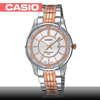 【CASIO 卡西歐】優雅氣質_日常生活防水_礦物玻璃__不鏽鋼錶帶_折疊式錶扣_女錶(LTP-1358RG)