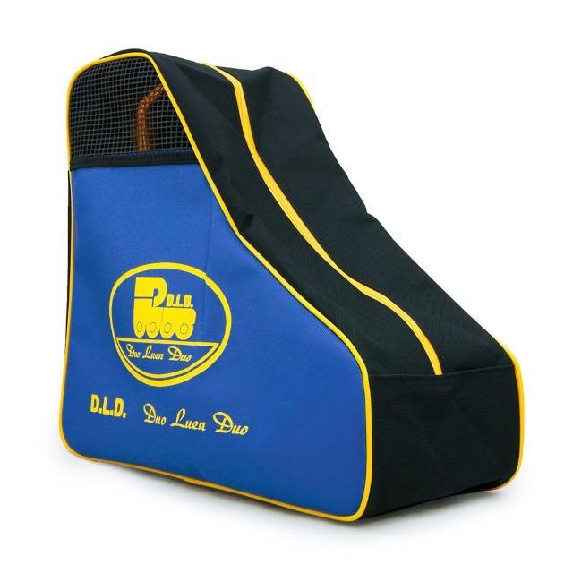 【網購】MOMO購物網【D.L.D多輪多】專業直排輪 溜冰鞋 三角背包(黑藍黃)有效嗎momo tw