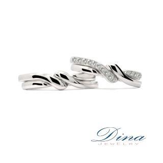 【DINA JEWERLY蒂娜珠寶】『交織合一』 鑽石結婚對戒(結婚鑽石對戒 系列)
