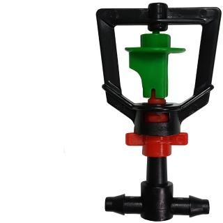 【灑水達人】2分迴轉型360度旋轉加2分三通10個(綠紅)