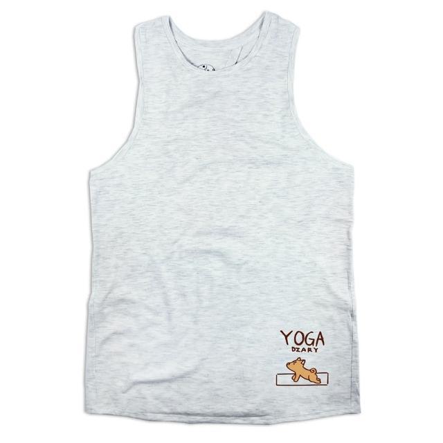 【開箱心得分享】MOMO購物網【AKUMA YOGA】後開叉背心-柴犬Yuki-yoga diary(台灣設計師原創瑜珈系列)評價好嗎m0m0購物網