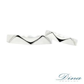 【DINA JEWELRY蒂娜珠寶】『心的悸動』 美鑽對戒(鑽石對戒 系列)